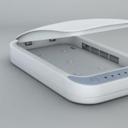 UV PHONE SANITISER WITH WIRELESS CHARGING WHITE
