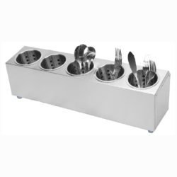 SOGA 18/10 Stainless Steel Commercial Conical Utensils Cutlery Holder with 5 Holes