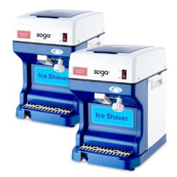 SOGA 2x Ice Shaver Commercial Electric Stainless Steel Ice Crusher Slicer Machine 120KG/h 68