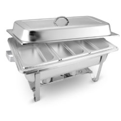 SOGA 3L Triple Tray Stainless Steel Chafing Food Warmer Catering Dish