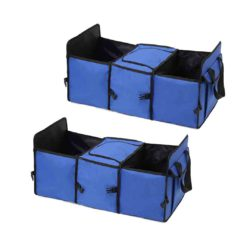 SOGA 2X Car Portable Storage Box Waterproof Oxford Cloth Multifunction Organizer Blue