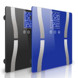SOGA 2 x Digital Body Fat Scale Bathroom Scale Weight Gym Glass Water LCD Blue/Black