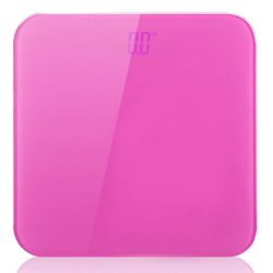 SOGA 180kg Digital Fitness Weight Bathroom Gym Body Glass LCD Electronic Scales Pink