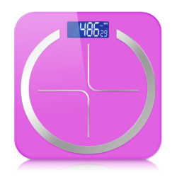 SOGA 180kg Digital Fitness Weight Bathroom Body Glass LCD Electronic Scales Pink