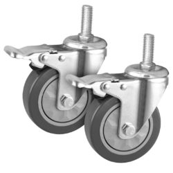 "SOGA 2 x 4"" Heavy Duty Polyurethane Swivel Castor Brake Wheels"