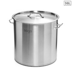 SOGA Stock Pot 98L Top Grade Thick Stainless Steel Stockpot 18/10