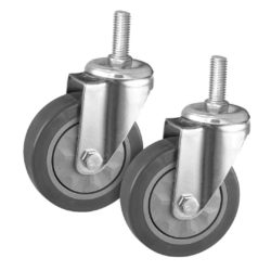 "SOGA 2 x 4"" Heavy Duty Polyurethane Swivel Castor Wheels"