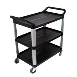 SOGA 3 Tier Food 83.5x43x95cm Trolley Food Waste Cart Storage Mechanic Kitchen Black Small