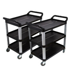 SOGA 2X 3 Tier 83.5x43x95cm Food Trolley Food Waste Cart Food Utility Mechanic Kitchen Small