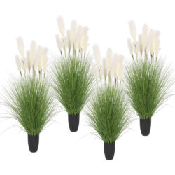 SOGA 4X 110cm Artificial Indoor Potted Reed Bulrush Grass Tree Fake Plant Simulation Decorative