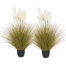 SOGA 2X 137cm Artificial Indoor Potted Reed Bulrush Grass Tree Fake Plant Simulation Decorative
