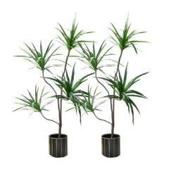SOGA 2X 180cm Green Artificial Indoor Brazlian Iron Tree Fake Plant Decorative 4 Heads