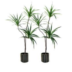 SOGA 2X 180cm Green Artificial Indoor Brazlian Iron Tree Fake Plant Decorative 3 Heads