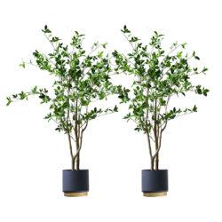 SOGA 2X 120cm Green Artificial Indoor Watercress Tree Fake Plant Simulation Decorative