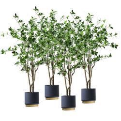 SOGA 4X 120cm Green Artificial Indoor Watercress Tree Fake Plant Simulation Decorative