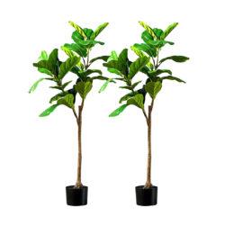 SOGA 2X 120cm Green Artificial Indoor Qin Yerong Tree Fake Plant Simulation Decorative