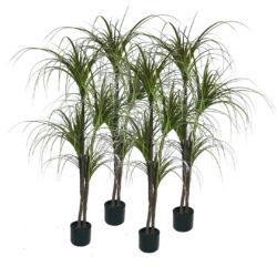 SOGA 4X 150cm Green Artificial Indoor Dragon Blood Tree Fake Plant Simulation Decorative