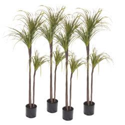 SOGA 4X 145cm Green Artificial Indoor Dragon Blood Tree Fake Plant Decorative