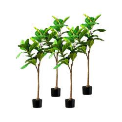 SOGA 4X 120cm Green Artificial Indoor Qin Yerong Tree Fake Plant Simulation Decorative
