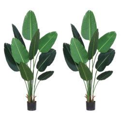 SOGA 2X 180cm Green Artificial Indoor Nordic Wind Traveller Banana Plant Fake Decorative Tree