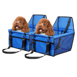 SOGA 2X Waterproof Pet Booster Car Seat Breathable Mesh Safety Travel Portable Dog Carrier Bag