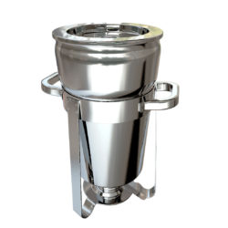 SOGA 7L Round Stainless Steel Soup Warmer Marmite Chafer Full Size Catering Chafing Dish