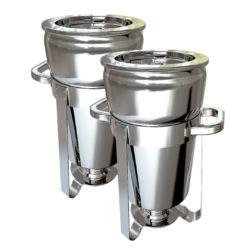 SOGA 2X 7L Round Stainless Steel Soup Warmer Marmite Chafer Full Size Catering Chafing Dish