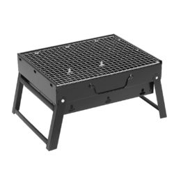 SOGA 43cm Portable Folding Thick Box-type Charcoal Grill for Outdoor BBQ Camping