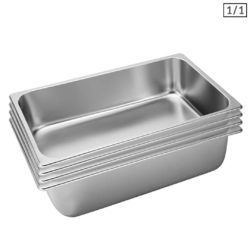 SOGA 4X Gastronorm GN Pan Full Size 1/1 GN Pan 15cm Deep Stainless Steel Tray