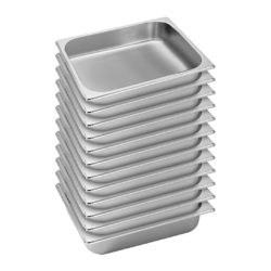 SOGA 12X Gastronorm GN Pan Full Size 1/2 GN Pan 6.5cm Deep Stainless Steel Tray