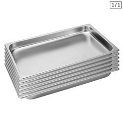 SOGA 6X Gastronorm GN Pan Full Size 1/1 GN Pan 4cm Deep Stainless Steel Tray