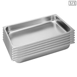 SOGA 6X Gastronorm GN Pan Full Size 1/1 GN Pan 6.5cm Deep Stainless Steel Tray