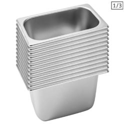 SOGA 12X Gastronorm GN Pan Full Size 1/3 GN Pan 20cm Deep Stainless Steel Tray