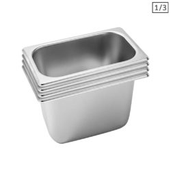 SOGA 4X Gastronorm GN Pan Full Size 1/3 GN Pan 20cm Deep Stainless Steel Tray