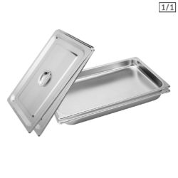 SOGA 2X Gastronorm GN Pan Full Size 1/1 GN Pan 4cm Deep Stainless Steel Tray With Lid
