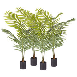 SOGA 4X 120cm Green Artificial Indoor Rogue Areca Palm Tree Fake Tropical Plant Home Office Decor