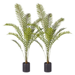 SOGA 2X 160cm Green Artificial Indoor Rogue Areca Palm Tree Fake Tropical Plant Home Office Decor