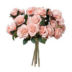 SOGA 4 Bunch Artificial Silk Rose 9 Heads Flower Fake Bridal Bouquet Table Decor Champion