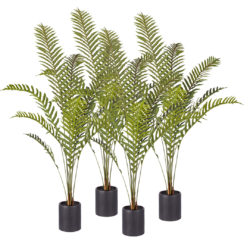 SOGA 4X 160cm Green Artificial Indoor Rogue Areca Palm Tree Fake Tropical Plant Home Office Decor