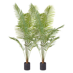 SOGA 2X 180cm Green Artificial Indoor Rogue Areca Palm Tree Fake Tropical Plant Home Office Decor