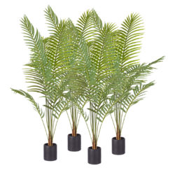 SOGA 4X 180cm Green Artificial Indoor Rogue Areca Palm Tree Fake Tropical Plant Home Office Decor
