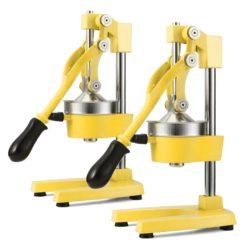 SOGA 2X Commercial Manual Juicer Hand Press Juice Extractor Squeezer Orange Citrus Yellow
