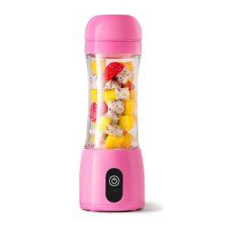 SOGA 380ml Portable Mini USB Rechargeable Handheld Fruit Mixer Juicer Pink