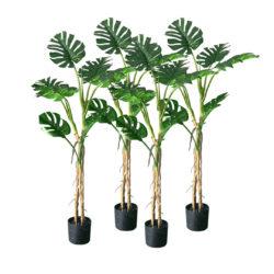 SOGA 4X 160cm Green Artificial Indoor Turtle Back Tree Fake Fern Plant Decorative