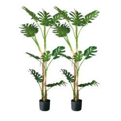 SOGA 2X 175cm Green Artificial Indoor Turtle Back Tree Fake Fern Plant Decorative
