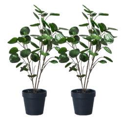 SOGA 2X 95cm Green Artificial Indoor Pocket Money Tree Fake Plant Simulation Decorative
