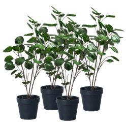 SOGA 4X 95cm Green Artificial Indoor Pocket Money Tree Fake Plant Simulation Decorative