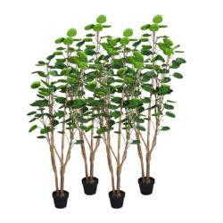 SOGA 4X 150cm Green Artificial Indoor Pocket Money Tree Fake Plant Simulation Decorative
