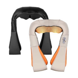 SOGA 2X Electric Kneading Back Neck Shoulder Massage Arm Body Massager Black/White
