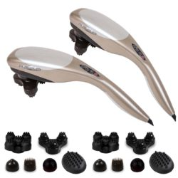SOGA 2X Hand Held Full Body Massager with 6 attachments Back Pain Therapy